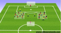 SMALL SIDED GAME: 5 VS 3 + 2